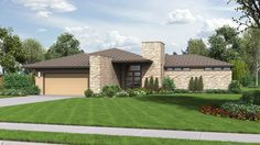 The Houston: Modern Ranch House Plan with Outdoor Connection Contemporary Style Homes, Contemporary House Plans, Modern Homes, Modern Kitchens, Modern Floor Plans, Modern House Plans, Ranch House Plans, House Floor Plans, Modern Ranch