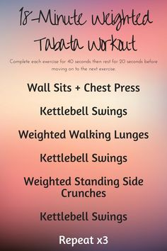 Weighted Tabata Workout