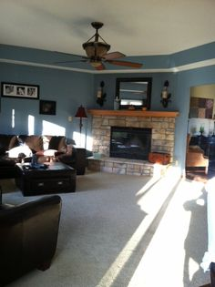My living room! Painted it and rearranged my furniture! LOVE IT!!