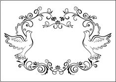 Crafts Too A4 Embossing Folder - Dove Frame CTA409 - Country View ...