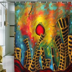 Amazon.com: DENY Designs Madart Glimmer Of Hope Shower Curtain, 69-Inch by 72-Inch: Home & Kitchen