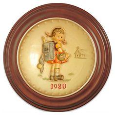 Awe! School Girl plate :)   1980 Annual Hummel Plate No 273 School Girl by silvergoldbuyers, $109.00