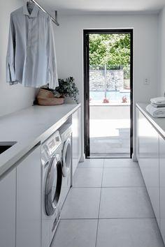 Best 35 Home Decor Ideas - Lovb Pantry Laundry Room, Laundry Room Layouts, Laundry Room Remodel, Tiny House Bathroom, Laundry In Bathroom, Home Office Design, House Design, Modern Laundry Rooms, Laundry Room Inspiration