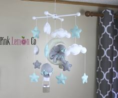 nursery decor,baby mobile biles,baby mobile,mint baby mobile,baby mobile sars,baby mobile hanging,elephant mobile,mint nursery decor,mobiles by PinkLemonCo on Etsy https://www.etsy.com/no-en/listing/523856967/nursery-decorbaby-mobile-bilesbaby