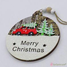 Ξύλινο χριστουγεννιάτικο στολίδι μπάλα με αυτοκίνητο Merry Christmas Wooden Products, Merry Christmas, Christmas Ornaments, Decoration, Holiday Decor, Home Decor, Merry Little Christmas, Decor, Decoration Home