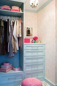 Girl's Walk-In Closet
