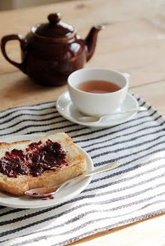 tea and toast with jam - always