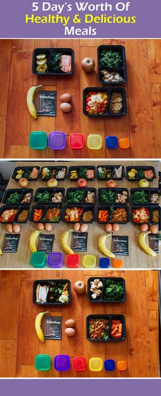 5 Day's worth of healthy & delicious meals! With a shopping list.
