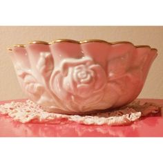 Lenox Bowl Rose Pattern ($13) ❤ liked on Polyvore featuring etsyteamunity