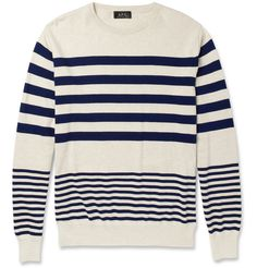 A.P.C. Striped Cotton Sweater | MR PORTER