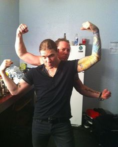 """An """"On This Day"""" 4 years ago photo. @TheBrentSmith & @BKerchOfficial @Shinedown #Shinedown #BarryKerch #BrentSmith"""