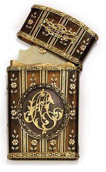 A GERMAN GOLD-MOUNTED TORTOISESHELL CARNET-DE-BAL  CIRCA 1785