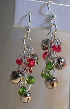 Holiday earrings with mini jingle bells!