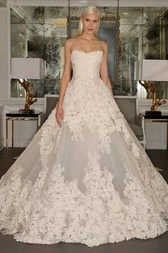Romantic Ball Gown 2016 Wedding Dresses Luxury Sexy Ivory Wedding Gowns Fashion…