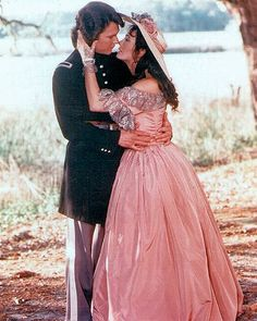 Patrick-Swayze  with Leslie  Ann Down in North and South - love love love this