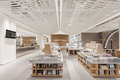 Library Architecture, Architecture Design, Library Lighting, Book Cafe, Library Design, Retail Space, Decorate Your Room, Design Museum, Retail Shop