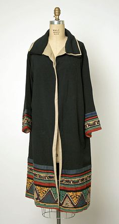 Coat, Jenny  (French) Date: ca. 1926 Culture: French Medium: silk