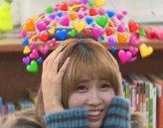 Meme Pictures, Reaction Pictures, Meme Faces, Funny Faces, Playful Kiss, Heart Meme, Cute Love Memes, Twice Kpop, Wattpad