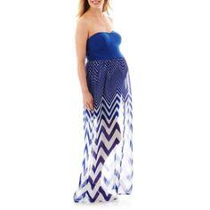 Chevron Maternity Maxi Dress