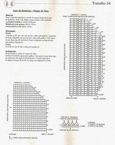 Clube do Crochê: Jogo de Banheiro Camila Fashion Marfim e roxo (com gráfico)4/6