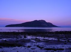 View of Holy Isle from The Shore Road, Lamlash, Isle of Arran, Scotland Peaceful Places, Beautiful Places, Amazing Places, Isle Of Arran, Wonders Of The World, Places Ive Been, The Good Place, Scotland, Explore