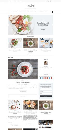 Foodica is perfect for creating food based blogs, magazines and recipe websites. Download and try now!  #foodblog #recipeblog #food #recipe #magazine #foodicatheme #wordpress Website Design Inspiration, Blog Website Design, Wordpress Website Design, Food Website, Design Ideas, Blog Layout, Website Layout, Layout Design, Restaurant Website Design