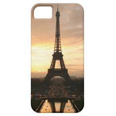 Pretty Romantic Sunset Eiffel Tower Paris France Apple iPhone SE + 5/5S case