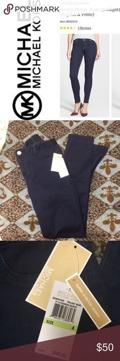 NWT MICHAEL KORS SUPER SKINNY STRETCH JEANS NWT MICHAEL KORS SUPER SKINNY STRETCH JEANS- brand new with tags. Never washed or worn and from a smoke free environment. Happy to consider reasonable offers, but low balls will be ignored. Any questions, please ask! MICHAEL Michael Kors Jeans Skinny