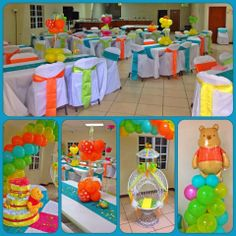 Winnie the Pooh Baby Shower decor by Glenda #partyperfection