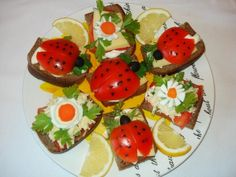 Sandwiches «ladybirds»