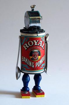 His Royal Highness, assemblage robot by Leslie Brier, Brier Design Studio.