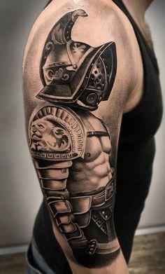 Norse Tattoo, Sparta Tattoo, Eagle Wing Tattoos, Tebori Tattoo, Medieval Tattoo, Gladiator Tattoo, Barber Tattoo, Black White Tattoos, Knight Tattoo