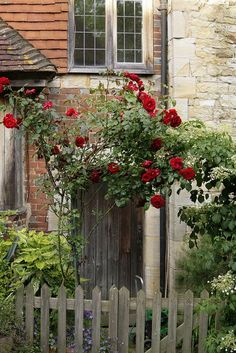 Rose Gate, the church cottage at Penshurst Village, Kent, England English Cottage Style, English Country Cottages, English Countryside, Garden Cottage, Rose Cottage, Tudor Cottage, Cottage Door, Beautiful Gardens, Beautiful Flowers