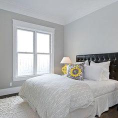10 examples: Gray Owl by Benjamin Moore - Baby Room Ideas Gray Bedroom Walls, Bedroom Paint Colors, Paint Colors For Home, House Colors, Bedroom Decor, Paint Colours, Grey Walls, White Bedroom, Master Bedroom