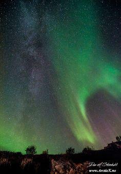 Aurora Under The Milky Way  Taken by Dan A. Steinbakk on September 23, 2014 @ Sommarøy, Tromsø, Norway