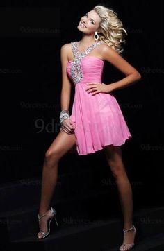 Elegant Chiffon Sleeveless Beaded Zipper Short Club Dress