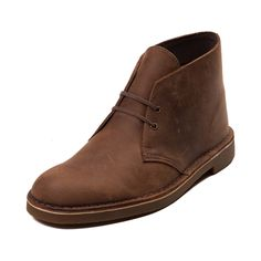 Casual and classy chukka style boot from Clarks featuring a full-grain leather upper, rubber outsole, and leather-covered EVA footbed for cushioning and support.
