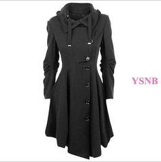 Women-039-s-Coat-Asymmetric-Button-Slim-Fit-Wool-Blend-Jacket-Parka-Trench-Outwears