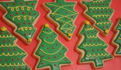 Mine look nothing like this, but Christmas sugar cookies are my favorite!