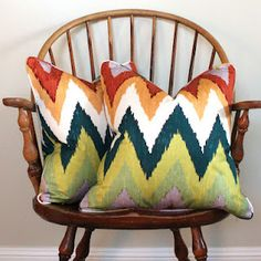 A fabric with some great pops of color!
