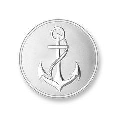 Mi Moneda Silver Plated Anchor & Faith Large Coin - £18.50
