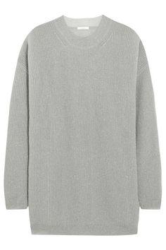 Chloé   Oversized metallic chunky-knit sweater   NET-A-PORTER.COM