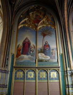 P1310043 Paris IV eglise St-Gervais-Protais fresque rwk - Église Saint-Gervais-Saint-Protais de Paris — Wikipédia