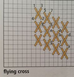 Flying cross stitch taken from Needlepoint Now magazine (March/April 2014). Such an awesome resource for stitches and projects!!!
