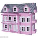 Wooden Pink  Victorian Doll House-7 Dolls and 25 pieces of furniture Timbertop  on eBay for $265