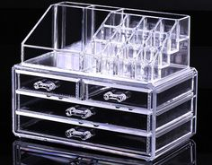New Cosmetic Organizer Makeup Drawers Display Box Acrylic Clear Cabinet Case Set | eBay