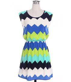 Chevron Chic Summer Dress