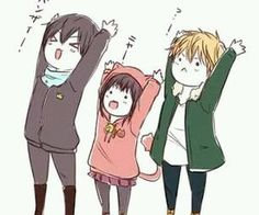 When nothing serious is happening in Noragami, this is literally what the characters do XD