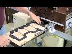Die-cutting and scoring boxes - YouTube video