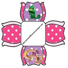 Cajitas Imprimibles de Enredados (Rapunzel) | Ideas y material gratis para fiestas y celebraciones Oh My Fiesta!
